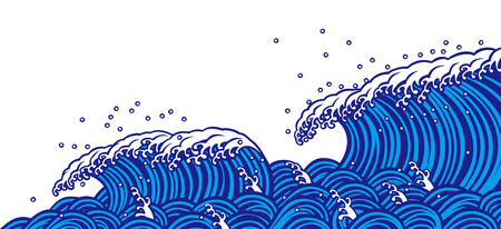 Blue wave Stock Vector - 59802210