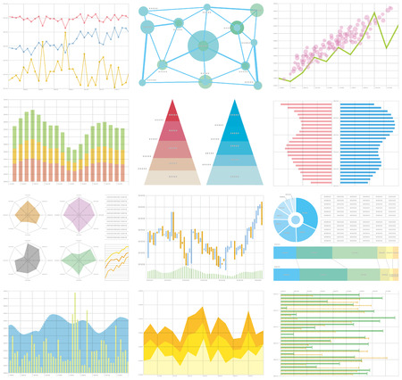 chart graph Vectores