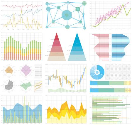 chart graph Vettoriali