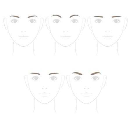 Augenbrauen-Form. weiches Bild.