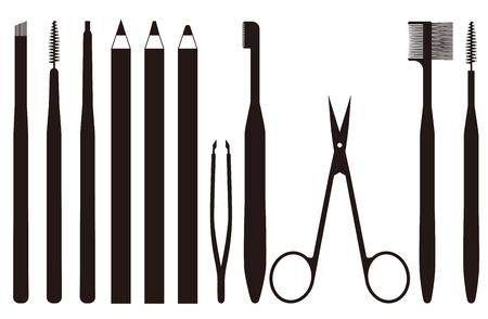 도구는 눈썹을 손질하기