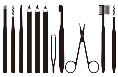 tool to trim the eyebrows