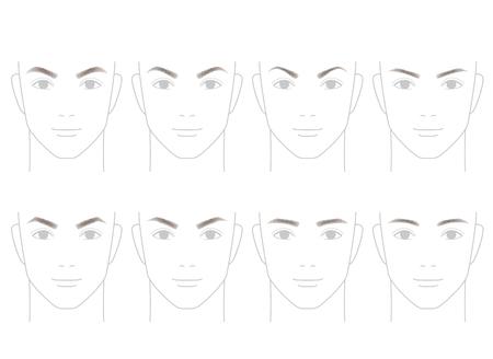 Eyebrows von Männern. Trimmen.