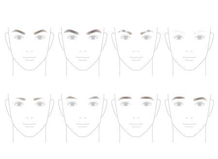 男性の眉毛の形
