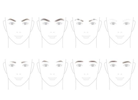 drooping: The shape of the eyebrows of men