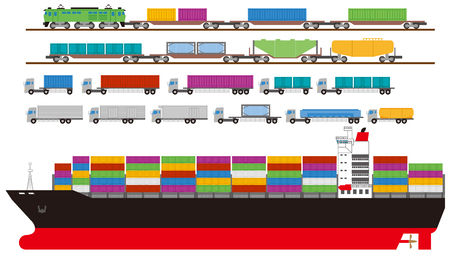 vehicle track: Container. Transport.