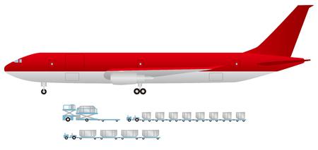貨物機とトラクター