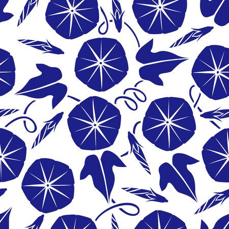 glory: Morning glory pattern Illustration