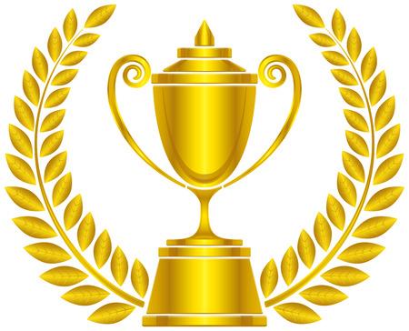trophy and laurels