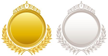 Medaglia diadema emblema Archivio Fotografico - 62116090