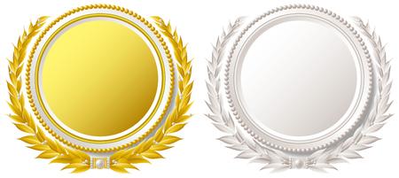 Medal emblem pearl Vectores