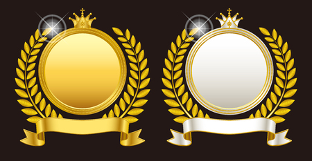 medal: Medal emblem crown Illustration