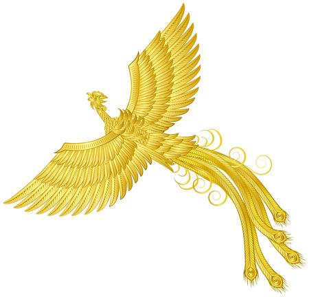 피닉스 ... 피닉스 ... 상상 속의 새들. 일러스트
