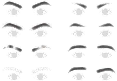 男性の眉毛  イラスト・ベクター素材