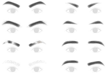 drooping: Eyebrows of men Illustration