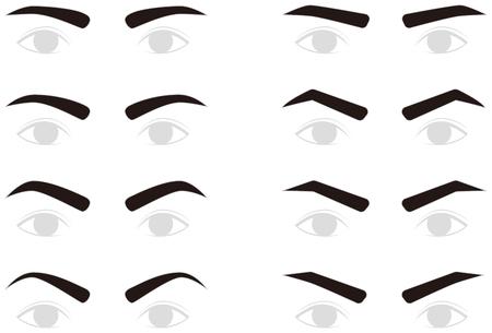 Eyebrows of men. trimming.