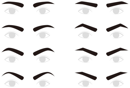 eyebrows: Eyebrows of men. trimming.