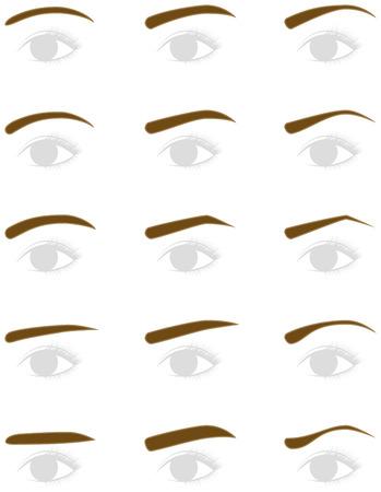 trimming: Eyebrow shape. trimming. Illustration