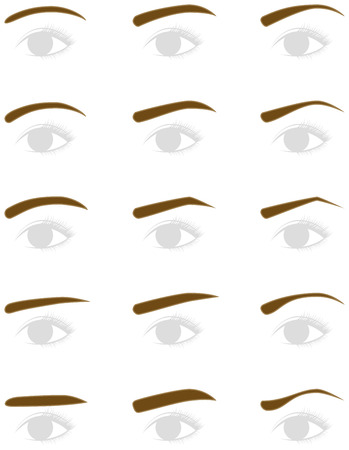 Eyebrow shape. trimming. Illustration