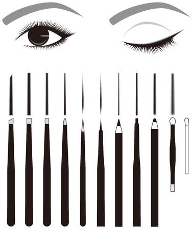eyelid: Eye line. Eyeliner. Makeup tool.
