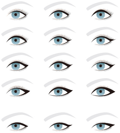pretty eyes: Eye line Illustration