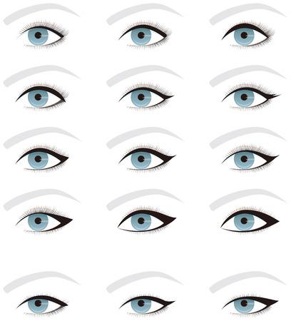 línea de los ojos