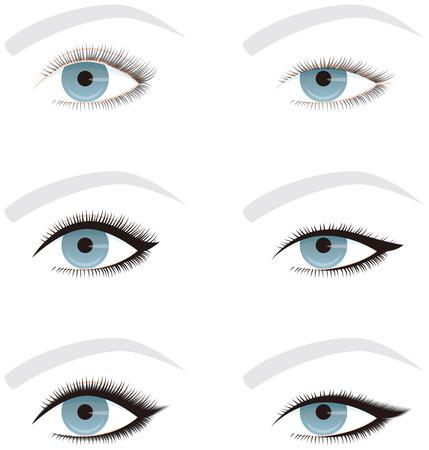 目のライン