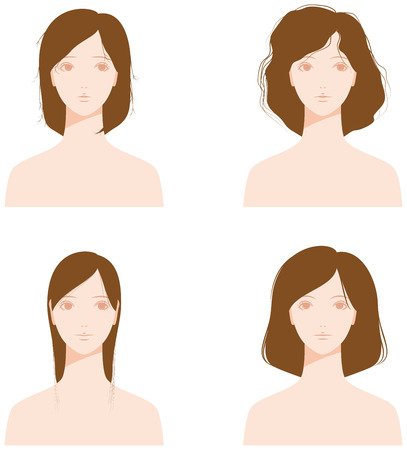 split ends: Hair type