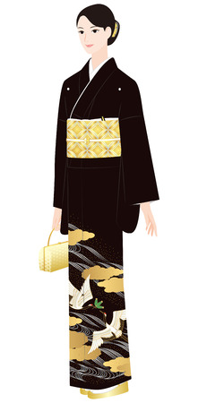 Lady in Japanese traditional outfit