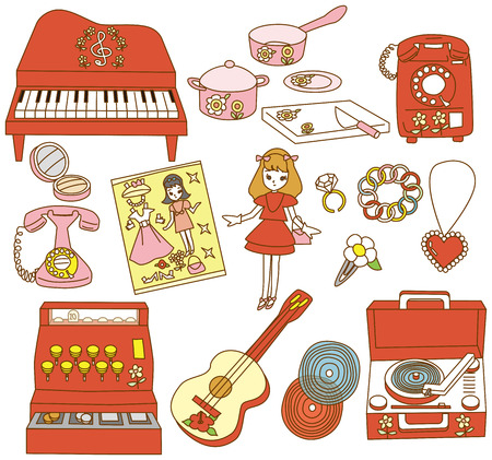 yearning: Japanese traditional toy Illustration