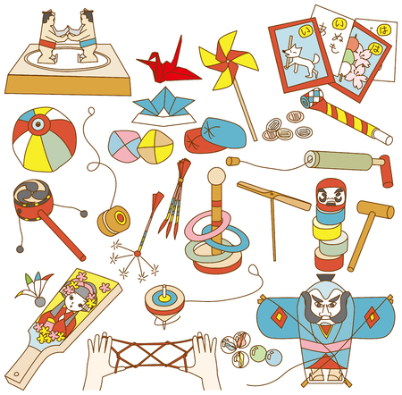 dram: Japanese traditional toys