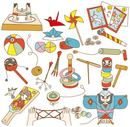 Juguetes tradicionales japoneses Foto de archivo - 62744575