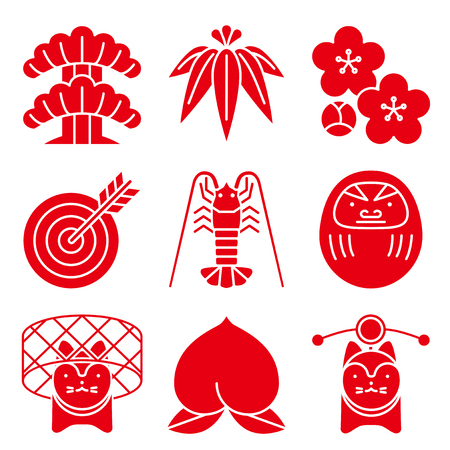 good luck: Good luck charms. Japanese style.