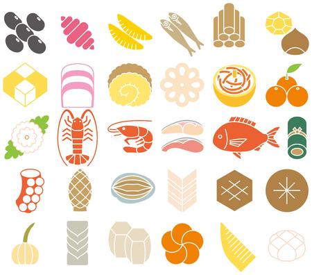 New Year gerechten. De keuken van het Japanse Nieuwjaar.