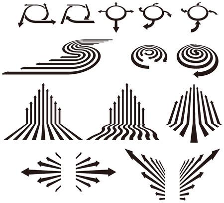 strzałka symbol Ilustracje wektorowe