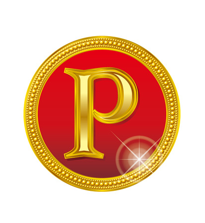 Punti d'oro. moneta. Archivio Fotografico - 64846817