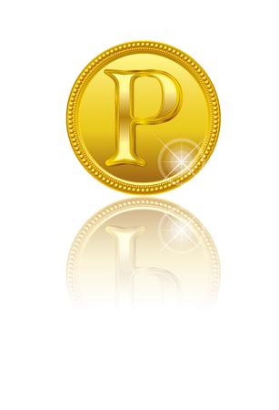골드 포인트. 동전.