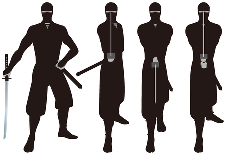 period costume: Ninja. Ninja is that of espionage and intelligence personnel on the history of Japan.