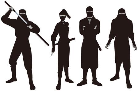 忍者。「ニンジャ」は、日本史の諜報活動および知性の人員のことです。