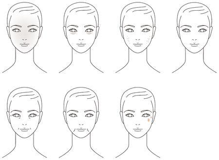 Kłopot skóry twarzy. Aging.woman.