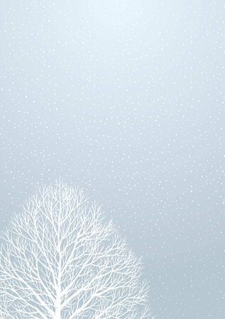 midwinter: Snow and trees