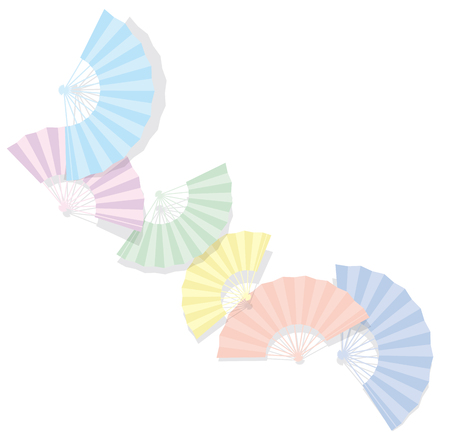 Japanese folding fan. The background material. 向量圖像