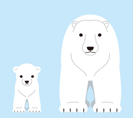 Polar bears. The parent and child.