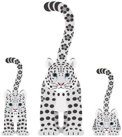 snow leopard: Snow leopard. The parent and child.