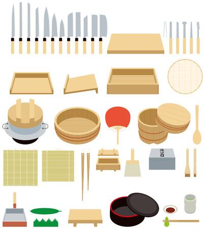 hot tub: Tool to make sushi.kitchen ware.  Sushi is Japanese food.