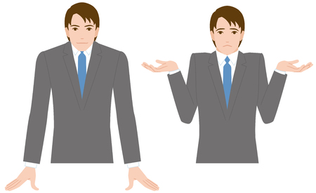 persuade: businessman gesture