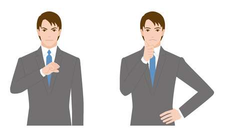 dissatisfaction: businessman gesture