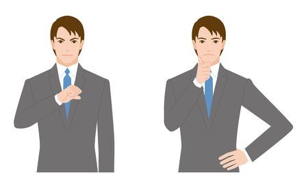 dissatisfaction: businessman gesture