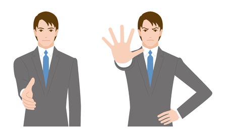 refusing: businessman gesture