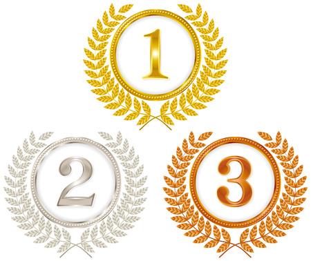 gold: medal gold silver bronze Illustration
